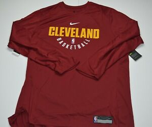 New Nike Cleveland Cavaliers Mens Shooting Shirt Long Sleeve Size XXL Lebron