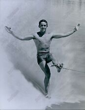 CA278 No Skiis Dick Pope professional Athlete Skiing Champ Florida Water Photo