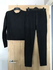 Zara Black Co-ord Lounge Set Size Large Top Size Medium Bottoms New With Tags