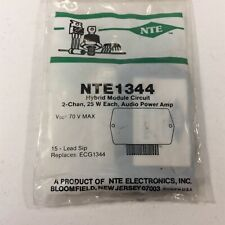 (1) NTE NTE1344 Integrated Circuit 2 Channel 25W min. AF Power Amplifier