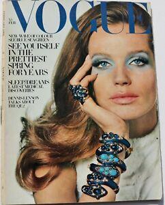 1969 Veruschka VOGUE 60s vintage fashion magazine Irving Penn Helmut Newton