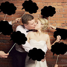 10X Photo Booth Prop DIY Bubble Speech Chalk Board Wedding Party Birthday   D