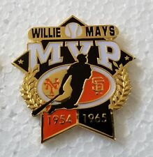 Willie MAYS MVP 1954 & 1965 Lapel Pin - S.F. GIANTS
