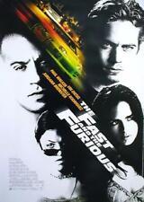 THE FAST & THE FURIOUS 1 - Orig.KinoPlakat A1 -Vin Diesel, Paul Walker gerollt