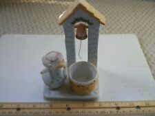 Vintage 1983 Christmas Angel By The Well Ceramic Figurine
