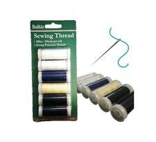 Hilo de coser mano de poliéster resistente Carrete de máquina de coser 100m 6 PC