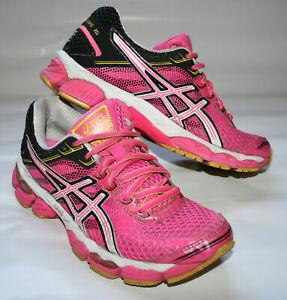 Womens ASICS GEL-Cumulus 15 in Pink Yellow Running Trainers EU39 UK5.5 RRP: £104