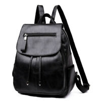 Fashion Women'S Backpack Teen Leather Fit Teen Girl Casual Black Backpack Large