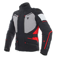DAINESE CARVE MASTER 2 BLACK / GREY / RED MOTORCYCLE JACKET - EU 50/52/54/56/58