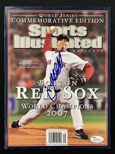 Josh Beckett Signed Sports Illustrated 11/7/07 NoLabel Red Sox Baseball Auto JSA