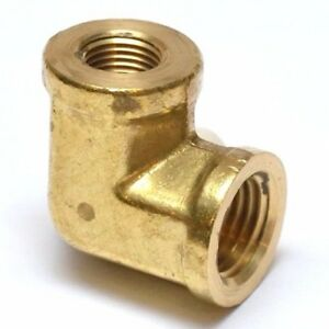 1/4 to 1/8 Npt Female Reducer 90 Degree Elbow Pipe Brass Fitting Water Oil Gas