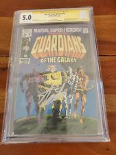Marvel Super Heroes #18 CGC 5.0 Signed By Stan Lee 1st Guardians 1969