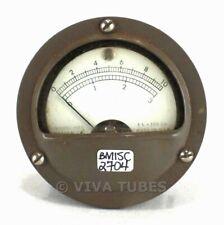 Vintage Marion Round Model HS2 Microammeter 0-10/0-3 200 uA Panel Amp Meter