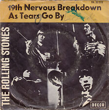 "Single 7"" The Rolling Stones ""19th Nervous Breakdown/As Tears go by"""