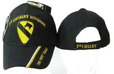 Adult Military Us Army® 1st Cavalry Division W/The First Team On Bill Black Hat