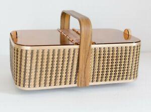 Vintage Salton Hot Basket Warmer Rolls Breads Buns, Cord Works Tongs, Retro Boho