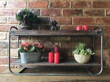 Retro Industrial Metal Storage Wall Shelf Unit Vintage Style Distressed Finish