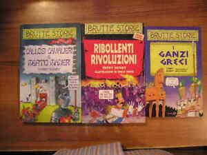 Lotto 3 libri BRUTTE STORIE Callosi cavalieri Ribollenti rivoluzioni Ganzi Greci