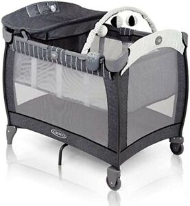 Graco Contour Electra Travel Cot with Integrated Changing Table, Music and Vibra