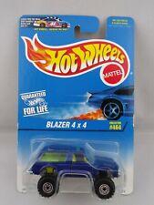 1996 Hot Wheels Collector #464 Blue Blazer 4×4  Neon Yellow Interior 15972 ORCT