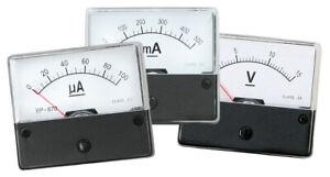 Drehspulinstrument analog Amperemeter ODER Voltmeter AC DC Einbau-Messinstrument