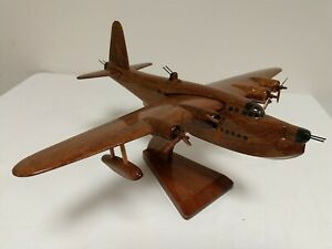Short Sunderland Flying Boat Scale Model Wooden Carved & Varnished Scratch built