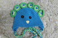 Handmade Knit Crochet Newborn Baby Child Kids Hat Cap Beanie Peacock Hat Beanie