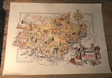 Carte Ancienne Provence Par Jacques Liozu 1951 Odé Paris 55,6x40,8 Cm