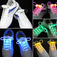 2X Laccio LED luminoso colorato lacci luminosi stringhe LED luci scarpe 80cm