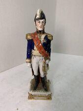 Capodimonte Porcelain Napoleon Officer Bertrand Soldier Statue Figurine