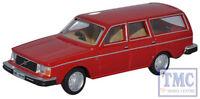 76VE002 Oxford Diecast 1:76 Scale Volvo 245 Estate Red Volvo 245 Estate