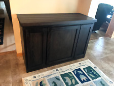 Solid Wood Accent Sideboard Cabinet - Dark Oak - Handcrafted In USA