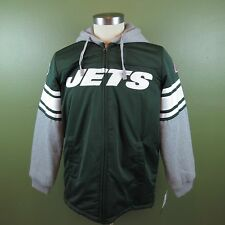 NFL Men's New York Jets Medium Thermal Hooded Sweat Jacket Team Apparel NWT