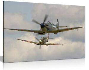 Raf Supermarine Spitfires Canvas Wall Art Picture Print