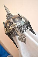 Indo Persian Mughal Islamic Silver Work Khula Khud Helmet Armour reproduction--