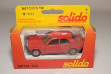 F SOLIDO 1337 MERCEDES BENZ 190 RED MINT BOXED
