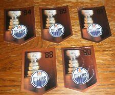 Molson Stanley Cup Banner Cards Set Edmonton Oilers