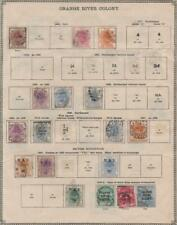 ORANGE RIVER COLONY: 1863-1903 - Ex-Old Time Collection - 2 Sides Page (33784)