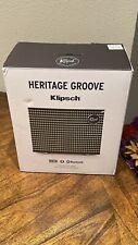 New listing Klipsch Heritage Groove Portable Bluetooth Speaker 20W - Matte Black