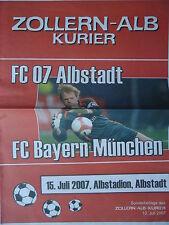 Programm 15.7.2007 FC 07 Albstadt - Bayern München