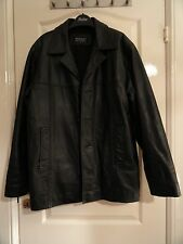 New Men's Ironsides Black Leather Jacket. Fully Lined Chest 44""