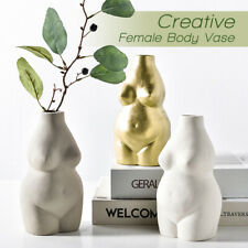 Nude Female Body Vase Ceramic Art Tabletop Flower Pot Nordic Modern Home Decor