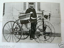 C FELIX MILLET'S 1887 5-CYL. VINTAGE POSTCARD MOTO 07-02 DOS-A-DOS TREEWHEELER