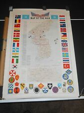 1953 PACIFIC STARS AND STRIPES MAP OF THE WAR KOREA w/ package 3186