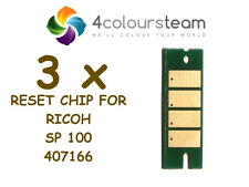 3x TONER RESET CHIP FOR RICOH Sp100 SP 100 SP112 SP100SF  407166  Nashuatec