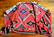 Ralph Lauren Beaded Southwestern Aztec Embroidered Dress Cape Poncho Sweater OS