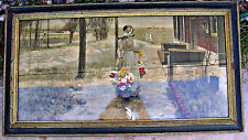 Listed Artist George Hitchcock, Holland Morn Flower Girl, Embellished Print