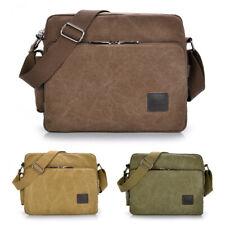 Men's Vintage Canvas Cross Body Bag Messenger Shoulder Book Bags School Satchel