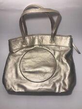 Coach Laura Metallic Gold Leather Shopper Tote Bag/Purse