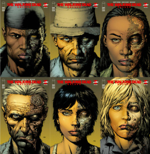 WALKING DEAD DELUXE #7 8 9 10 11 12 2ND PRINT VARIANT SET (NM) DAVID FINCH 6/30